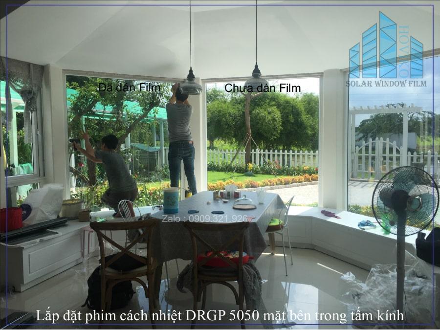 lắp đặt phim cách nhiệt drgp5050 cho biệt thự Khang Điền Quận 9