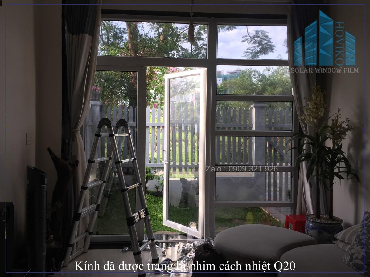 thi công phim cách nhiệt q20 cho nhà mẫu KDC khang điền