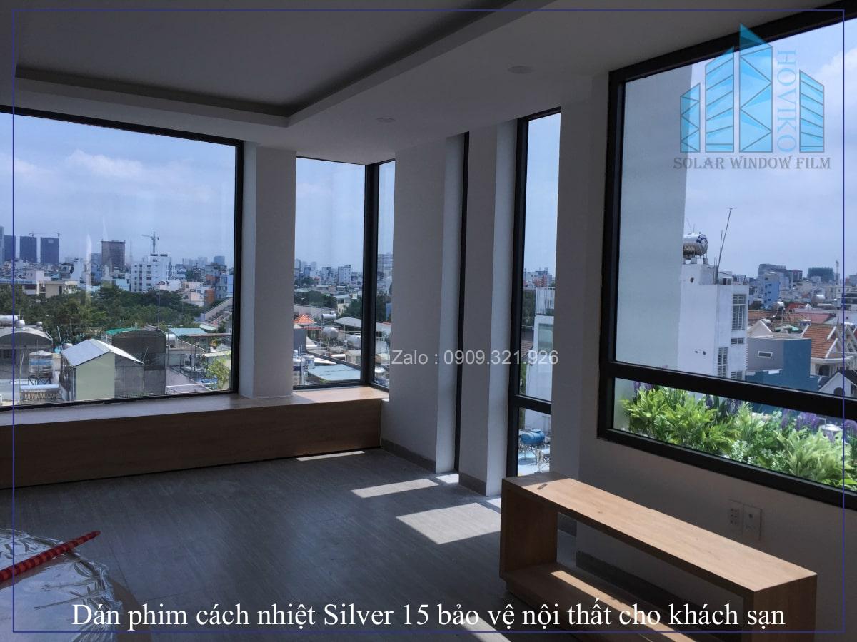 Dán phim cách nhiệt Silver 15 bảo vệ nội thất tăng sự riêng tư cho khách sạn