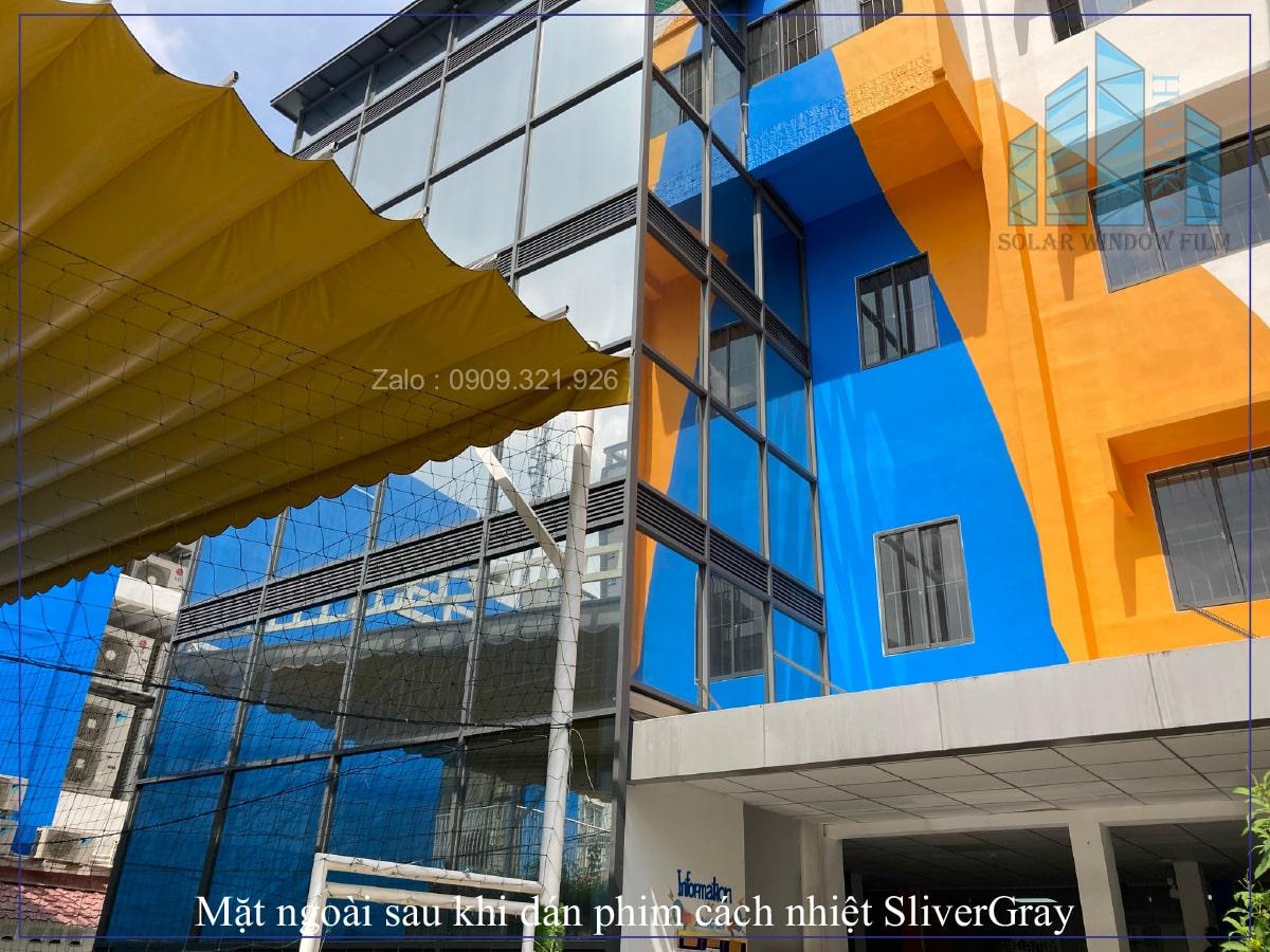 phim silver gray dán chống nắng cách nhiệt cho trường Quốc tế bris blue ridge international school