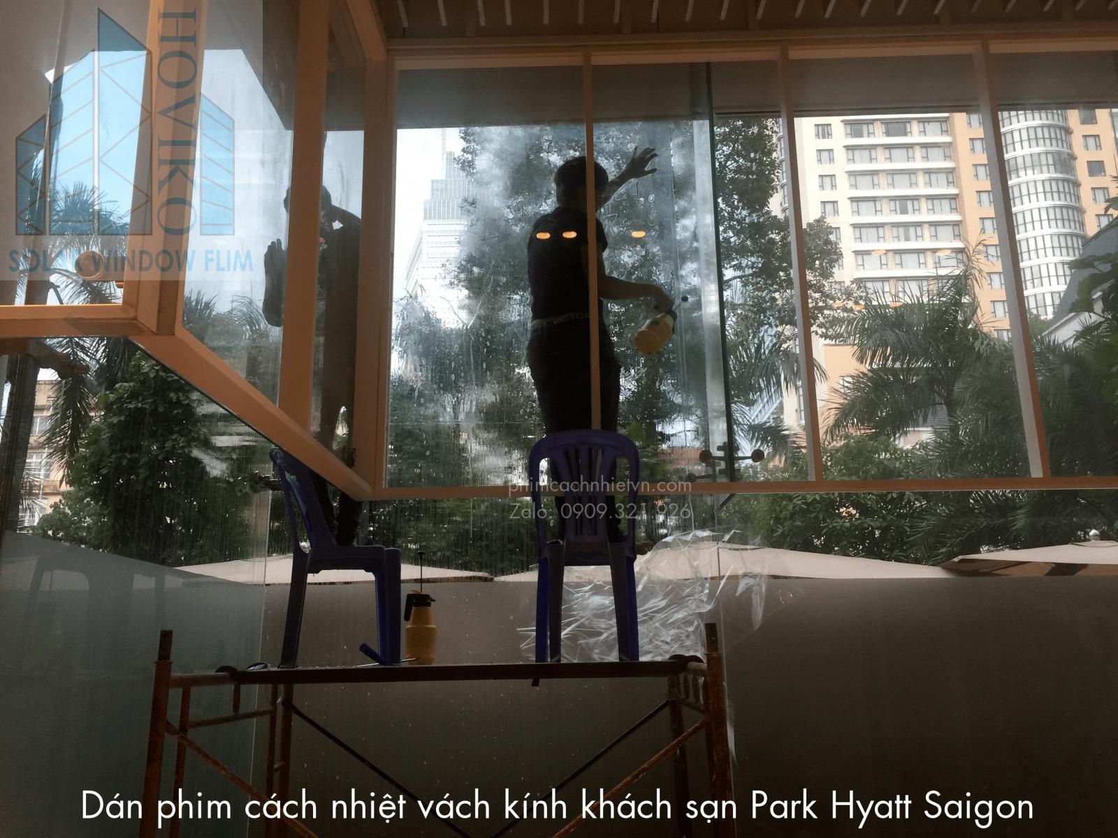 dán phim cách nhiệt khách sạn Park Hyatt Saigon